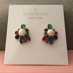 Kate Spade ♠️ Gold Stone Pearl Studs